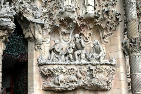 Detail na fasáde Sagrady