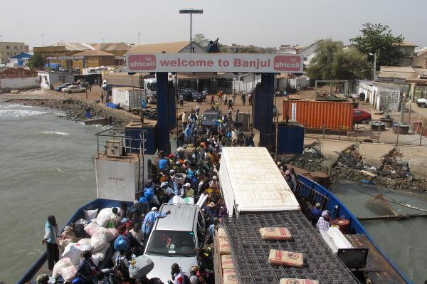 Prístav v Banjule, Gambia