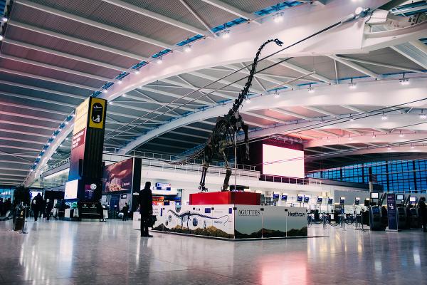 Letisko Heathrow kontroluje dinosaurus