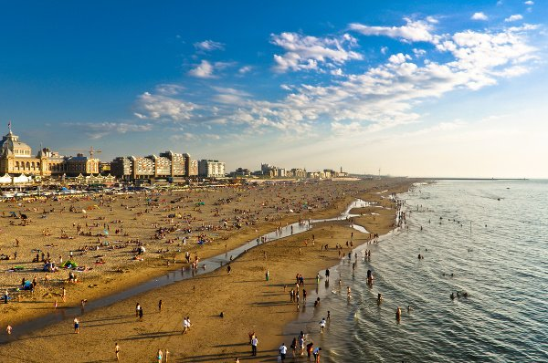 Pláž Scheveningen v Holandsku