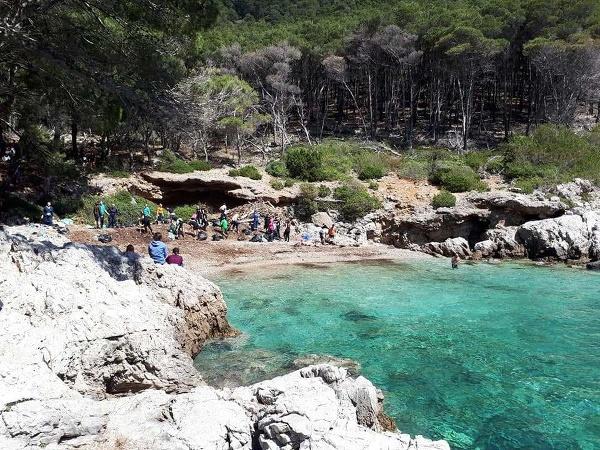 Chorvátska pláž na ostrove
