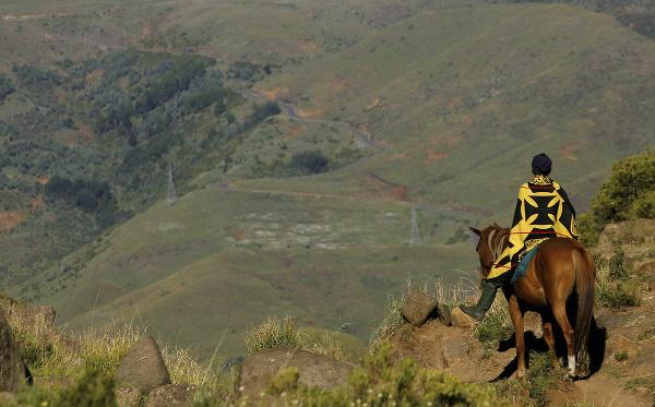 Údolie v Lesothe