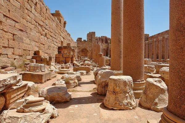 Rímske mesto Leptis Magna,