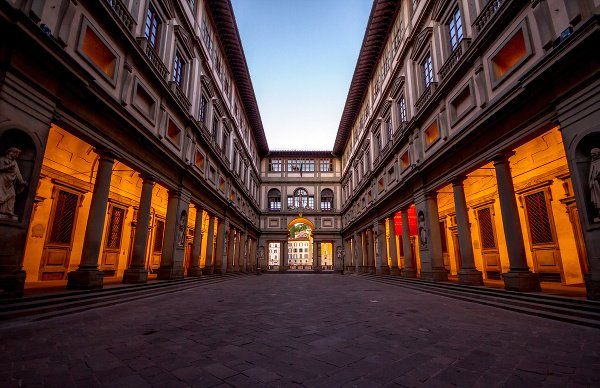 Gaaléria Uffizzi vo Florencii