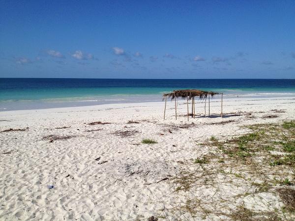 Pláž v Mozambiku