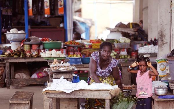 Trh v Grand Bassam,