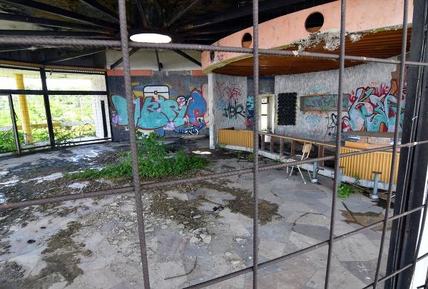 Interiér bývalej kaviarne Kotva