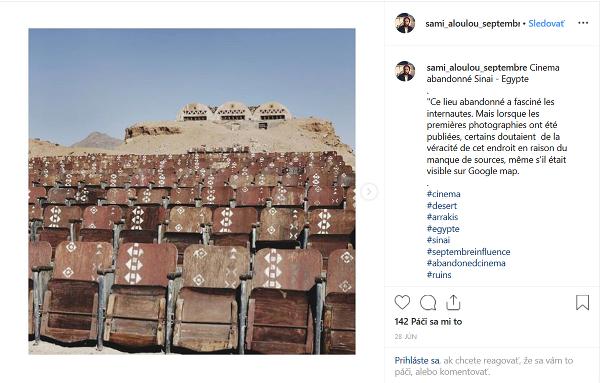 Opustené kino Sinaj