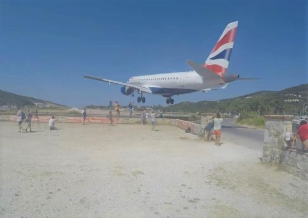 Lietadlo na ostrove Skiathos
