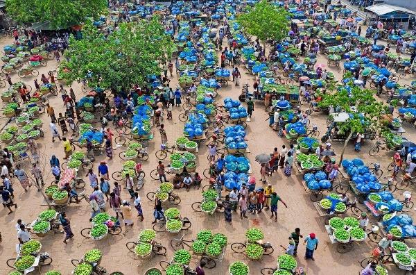Mangový trh v Bangladéši