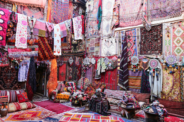 Predaj kobercov v Turecku