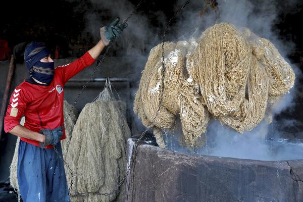 Výrob kobercov v Afganistane