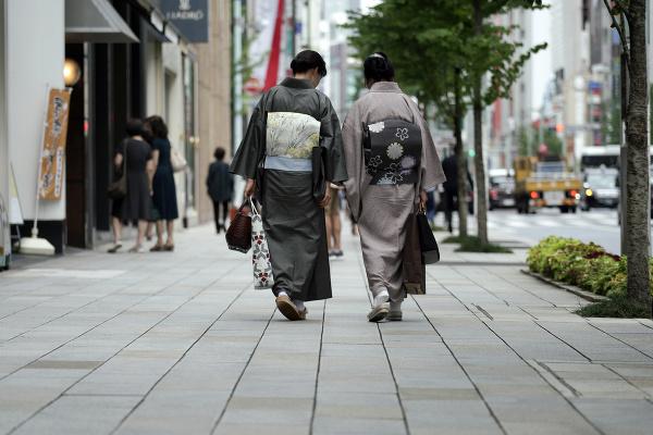 Ženy v tradičnom kimone