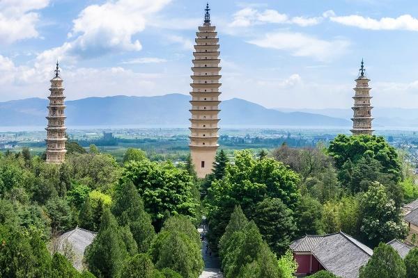 Tri pagody, Dali, Čína