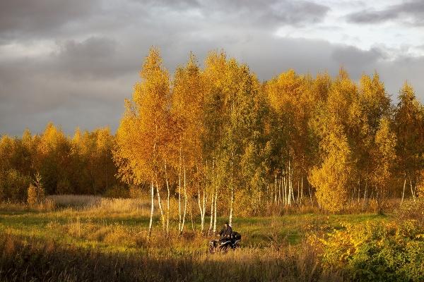 Jesenná atmosféra v ruskej