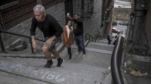 Schody v Bronxe z
