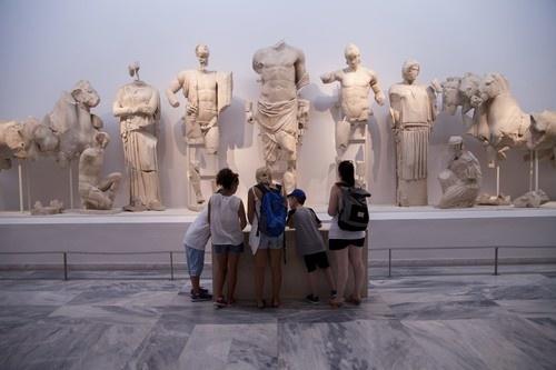 Interiér múzea v Olympii