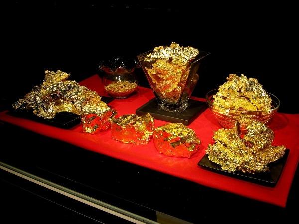 Zlaté ingoty z múzea