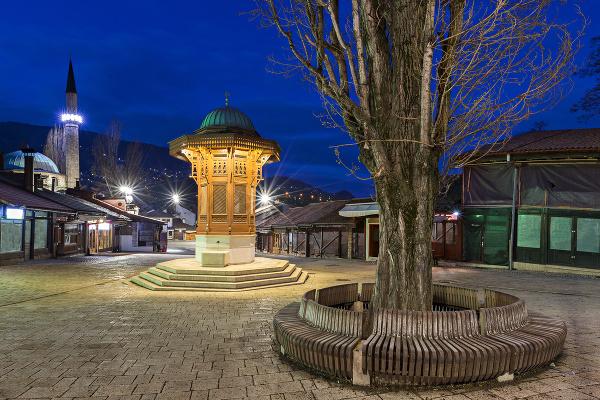 Baščaršijské námestie v Sarajeve
