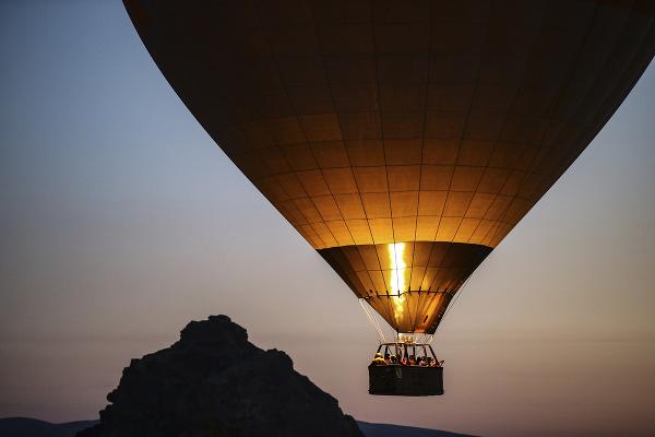 Balón v tureckej Kapadócii