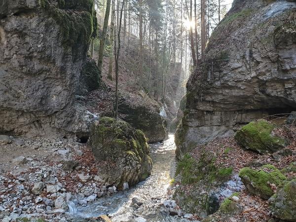 Na snímke skalný kaňon