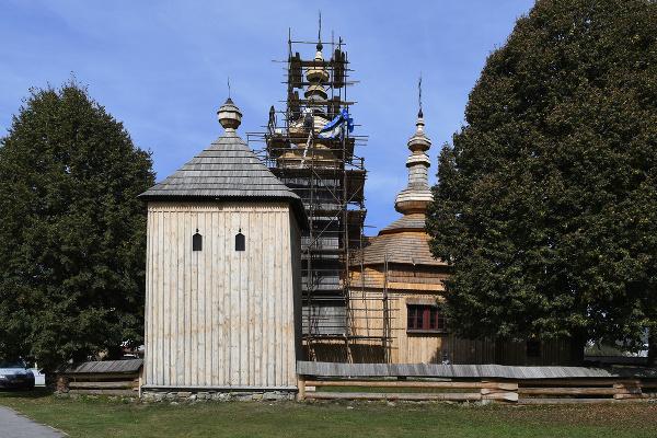Drevený gréckokatolícky chrám svätého
