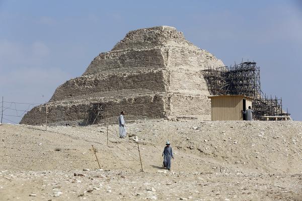 Pyramída v Sakkáre počas