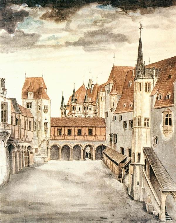Hofburg na obraze Albrechta