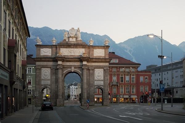 Víťaznný oblúk v Innsbrucku