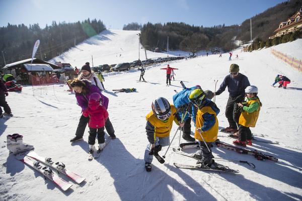 Na snímke lyžovačka počas