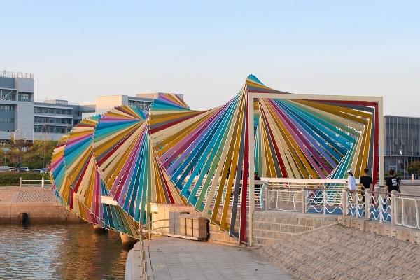 Dúhový most Qingdao, Čína