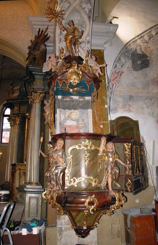 Stará Ľubovňa: baroková kazateľnica