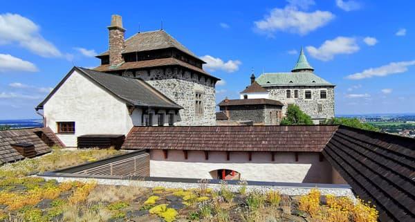 Vyhliadková terasa hradu Kunětická