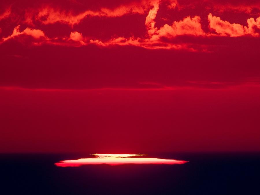 Ohnivý východ slnka