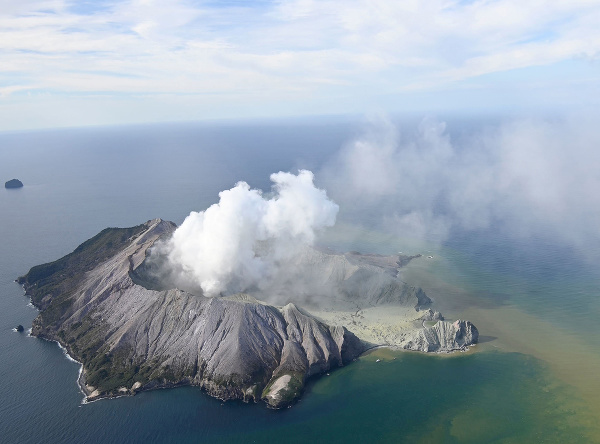 Erupcia sopky na Novom Zélande