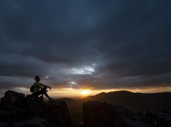 Západ slnka počas jesennej rovnodennosti