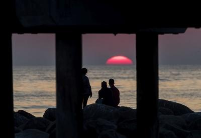 Romantický západ slnka