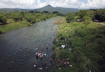 Osvieženie v rieke