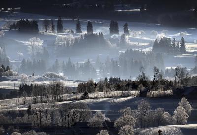 Čaro zimnej krajinky