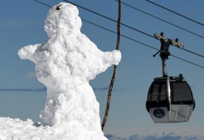 Snehová nádielka v Alpách