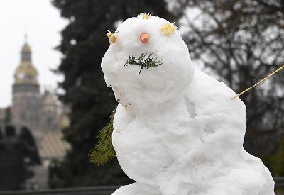 Prvý tohtoročný snehuliak