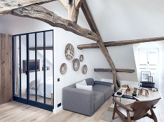 Moderný byt s pôsobivým rustikálnym šarmom