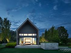 Moderná interpretácia ľudovej architektúry: Štíhly rodinný dom prepojený s prírodou