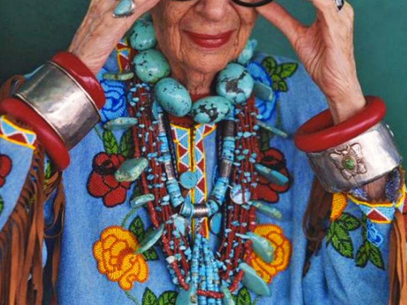 Iris Apfel, módna ikona a dizajnérka