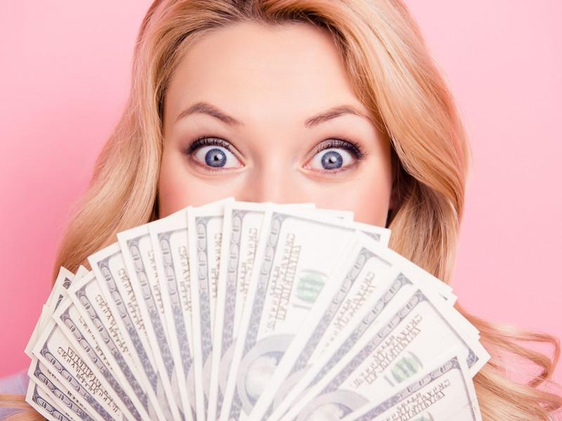 peniaze, bohatstvo, oči, žena