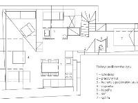 Pôdorys podkrovného bytu 1 –