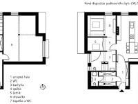 Nová dispozícia podkrovného bytu