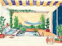 Vodná záhrada  Vtejto záhrade je