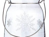 Závesný lampáš zčíreho skla