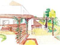 Obytná terasa Vpôdoryse ľavá, vreáli